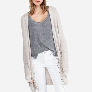 Express Hooded Shaker Knit Cardigan